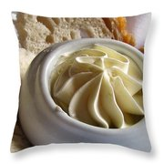 Bread And Butter Throw Pillow by Jennifer Wheatley Wolf
