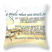 Bread Throw Pillow by Judy Dodds