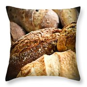 Bread Loaves Throw Pillow by Elena Elisseeva