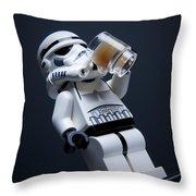 Break Time Throw Pillow by Samuel Whitton