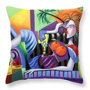 Breakfast At Tiffanie's  Throw Pillow by Anthony Falbo