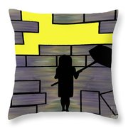 Breaking Down Barriers Throw Pillow by Patrick J Murphy
