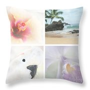 Breathe . Feel The Wind . . . Throw Pillow by Sharon Mau