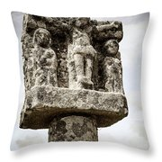 Breton Stone Cross Throw Pillow by Elena Elisseeva