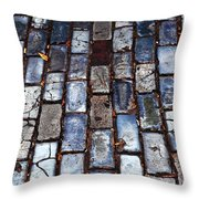 Brick Street Throw Pillow by John Rizzuto