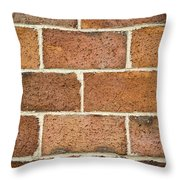 Brick Wall Throw Pillow by Frank Tschakert