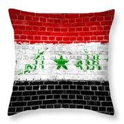 Brick Wall Iraq Throw Pillow by Antony McAulay