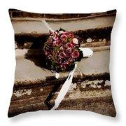 Bridal Bouquet Throw Pillow by Mountain Dreams