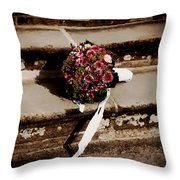 Bridal Bouquet Throw Pillow by Mountain Dreams