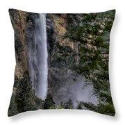 Bridalveil Falls Throw Pillow by Bill Gallagher