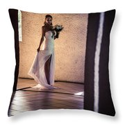 Bride. In Color Throw Pillow by Jenny Rainbow