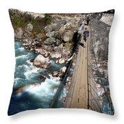 Bridge Crossing Throw Pillow by Tim Hester