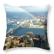 Bridge Of Light - In Loving Memory Throw Pillow by Michelle Wiarda