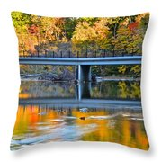Bridges Of Madison County Throw Pillow by Frozen in Time Fine Art Photography