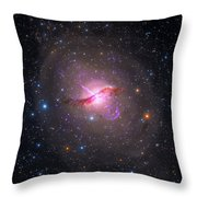 Bright Galaxy Centaurus A Throw Pillow by Paul Fearn