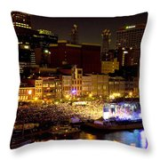 Bright Nights Throw Pillow by Diana Powell