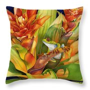Bright Stars Throw Pillow by Lyse Anthony