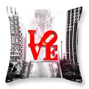 Brightest Love Throw Pillow by Bill Cannon