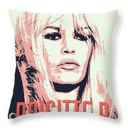 Brigitte B Throw Pillow by Chungkong Art