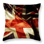 British Flag  Throw Pillow by Les Cunliffe