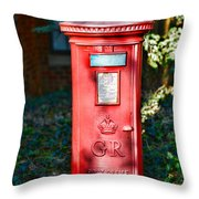 British Mail Box Throw Pillow by Paul Ward