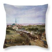 BRITISH RETREAT, 1775 Throw Pillow by Granger