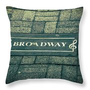 Broadway Throw Pillow by Dan Sproul
