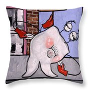 Broke Tooth Throw Pillow by Anthony Falbo