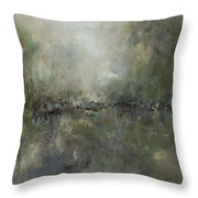 Broken Fences Throw Pillow by Frances Marino