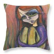Broken Spirit Throw Pillow by Tanielle Childers