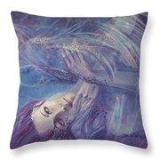 Broken Wings Throw Pillow by Dorina  Costras