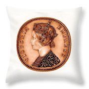 Bronze Empress Victoria Throw Pillow by Fred Larucci