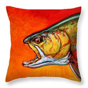 Brookie Portrait  Throw Pillow by Savlen Art
