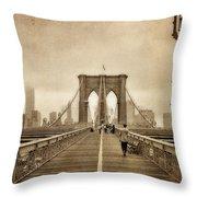 Brooklyn Memoirs Throw Pillow by Joann Vitali