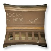 Brooks Was Here Throw Pillow by Jack R Perry