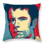 Bruce Dickinson Throw Pillow by Caio Caldas