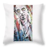 Bruce Springsteen Throw Pillow by Joshua Morton