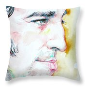 BRUCE SPRINGSTEEN PROFILE portrait Throw Pillow by Fabrizio Cassetta