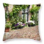 Brugge Balcony Throw Pillow by Carol Groenen