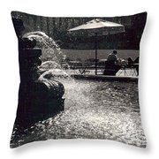 Bryant Park Throw Pillow by Christina Moreno