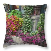 Bryant Park Grill 3 Throw Pillow by Muriel Levison Goodwin