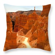Bryce Canyon Trail Throw Pillow by Jane Rix