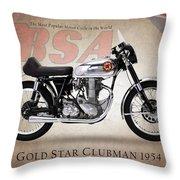 Bsa Gold Star 1954 Throw Pillow by Mark Rogan