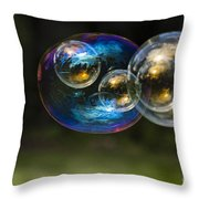 Bubble Perspective Throw Pillow by Darcy Michaelchuk