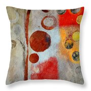 Bubble Tree - Ls55 Throw Pillow by Variance Collections