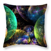 Bubbles Upon Bubbles Throw Pillow by Peggi Wolfe