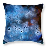 Bubbly Moon Throw Pillow by Alessandro Della Pietra