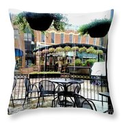 Bucket's Got A Hole In It Throw Pillow by Jon Burch Photography