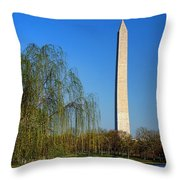 Bucolic Washington Throw Pillow by Olivier Le Queinec