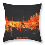 Budapest Hungary Throw Pillow by Aged Pixel